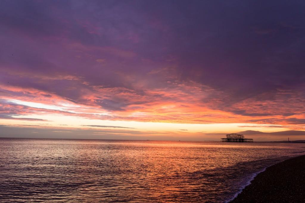 Sunset in Brighton / seeandsavour.com