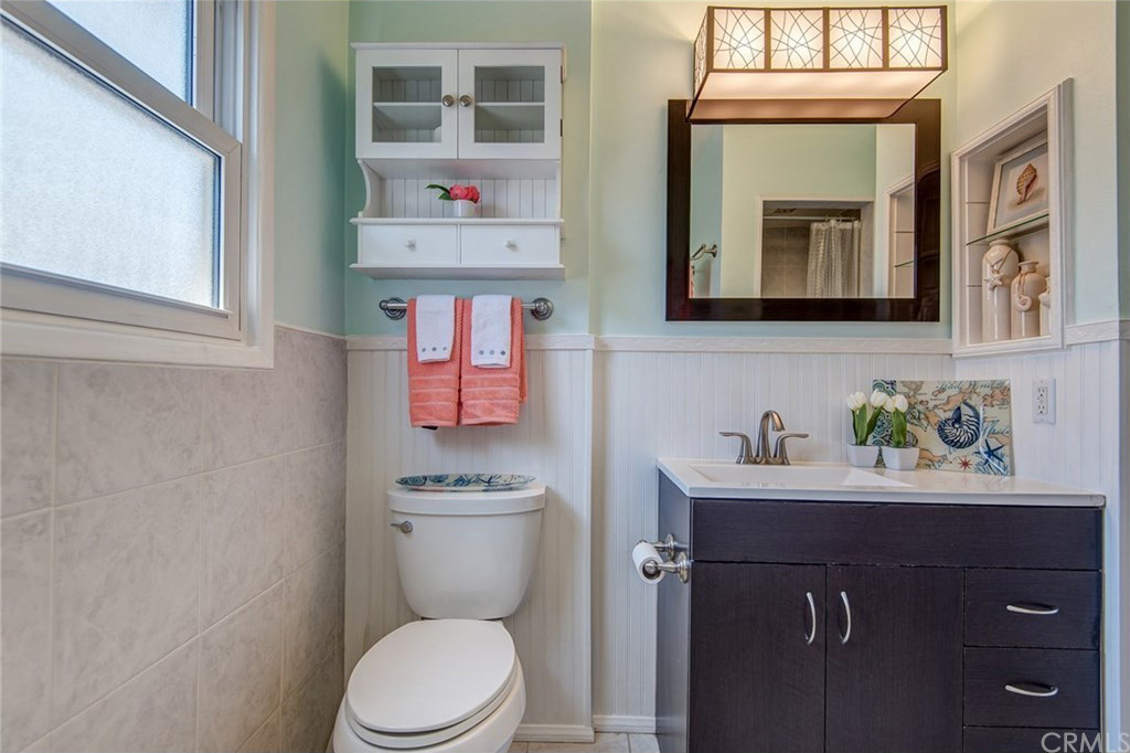Our house bathroom reveal see savour for Bathroom seen photos